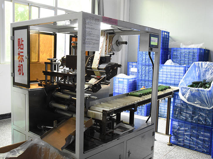 Left direction labeling machine with whole and partial effect