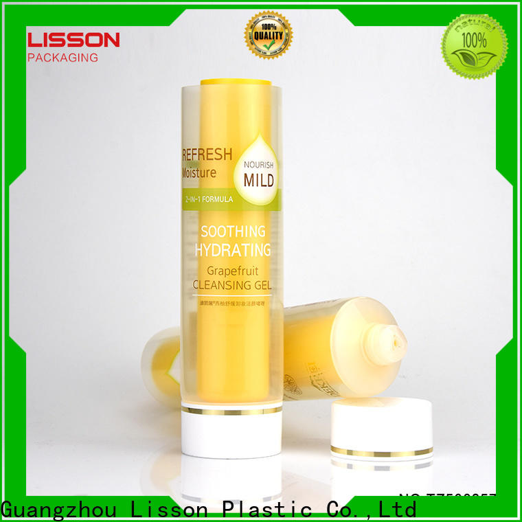 Lisson bulk production plastic tubes with caps tooth-paste for facial cleanser