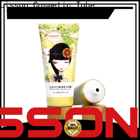 Lisson clear plastic tube tooth-paste for cleanser