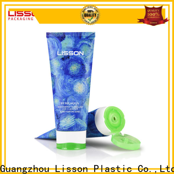 custom shape cosmetic double colors tube sunscreen packaging for makeup
