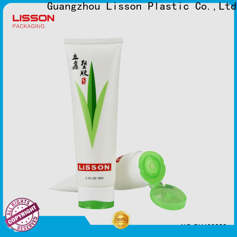 Lisson high quality cosmetic double colors cap tube wholesale for lip balm