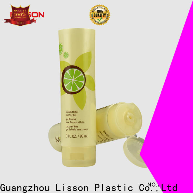 Lisson top quality cosmetic tube with flip cap wholesale for packaging