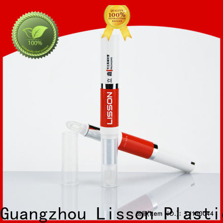Lisson lip gloss tubes with brush bulk production for cosmetic packing