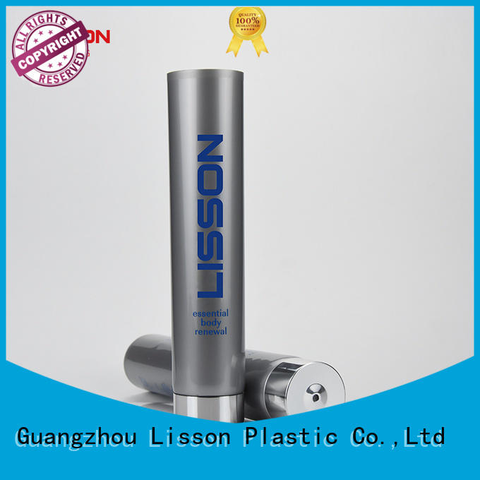 Lisson screw cap cosmetic dispensing tubes therapy for lotion