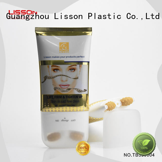 Lisson screw cap cosmetic squeeze tubes wholesale scraping for cleaner