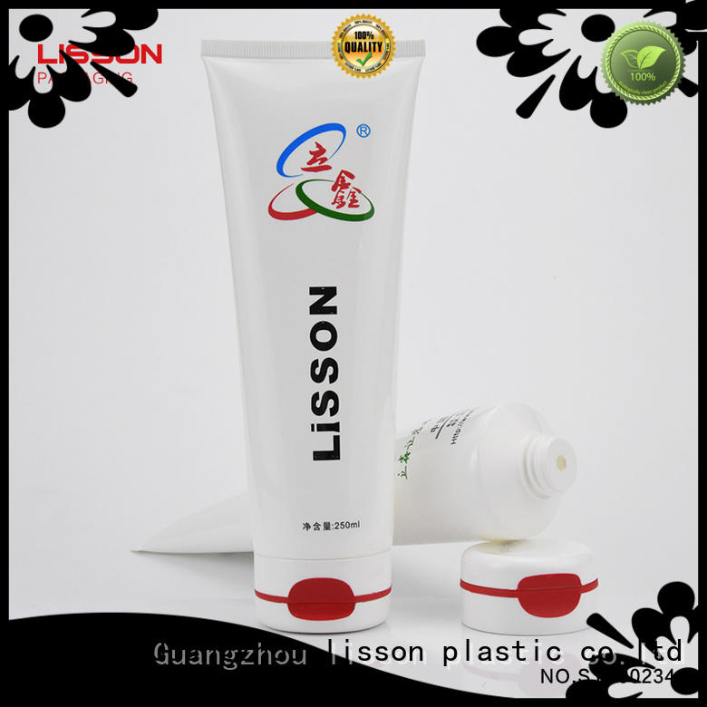 flip press round plastic lotion tubes Lisson Tube Package manufacture
