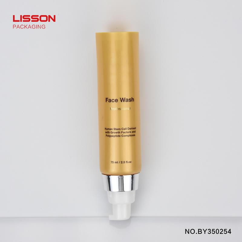 D35 round airless pump plastic PE tube