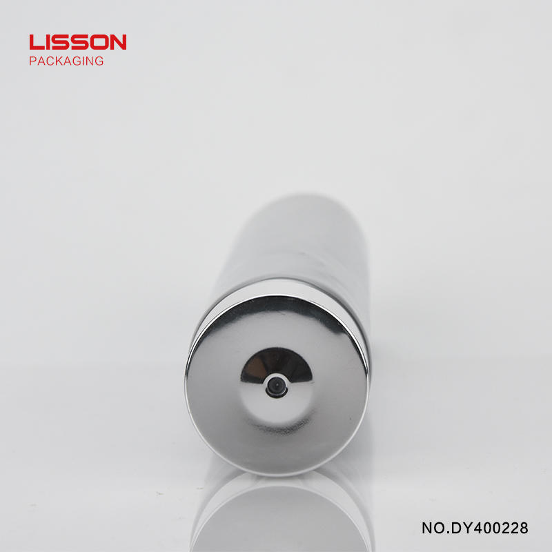 150ml round tube with rotary switch Aluminium-covered cap