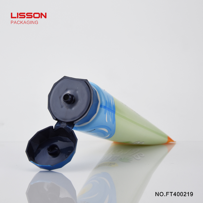 120ml round tube with diamond shape flip cap for facial cleanser-6