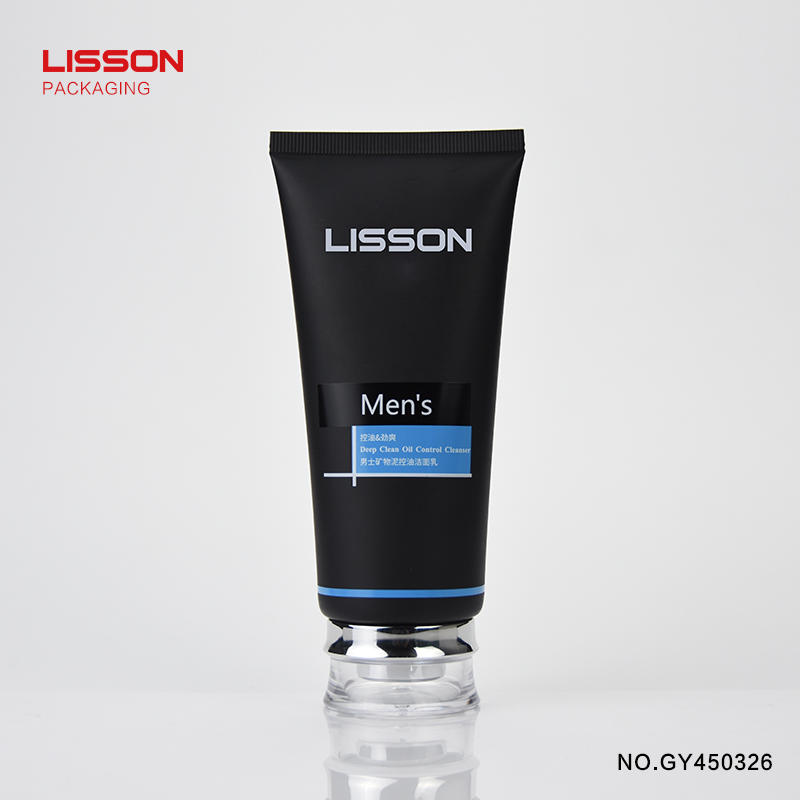 150ml Men's facial washer cosmetic plastic packaging tube
