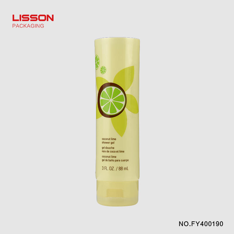 88ml round tube with flip top cap for facial cleanser