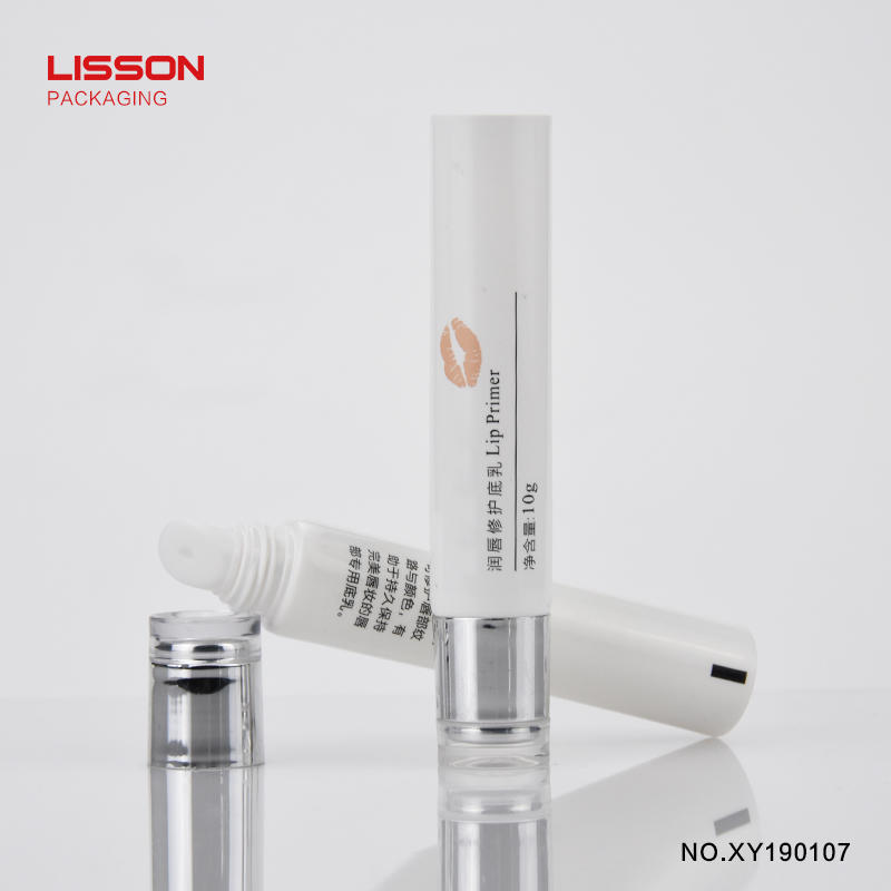 10g acrylic cap cosmetic packaging tube for lip gloss