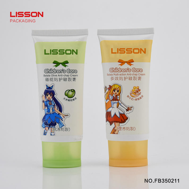 Eco-friendly hand cream sealed oval tube with flip top cap
