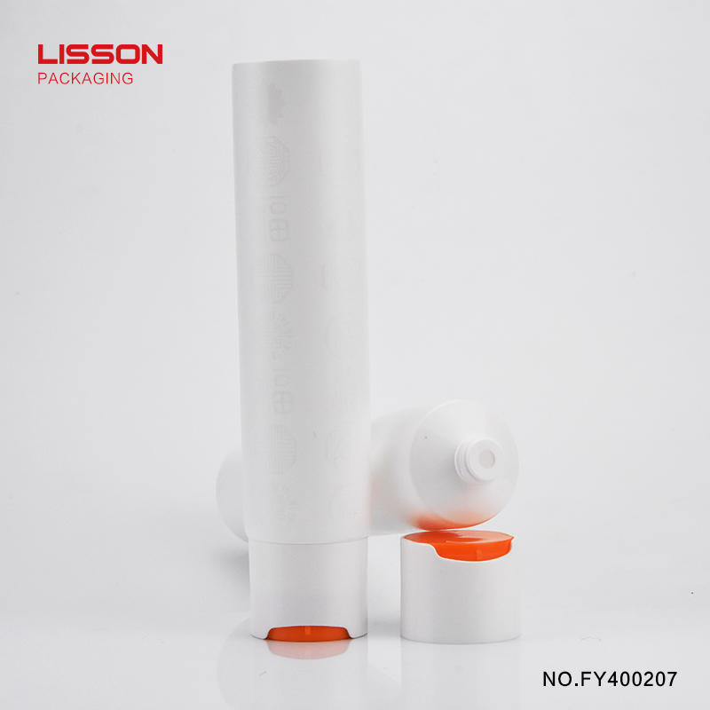 120ml cosmetic plastic packaging tube with special screw cap