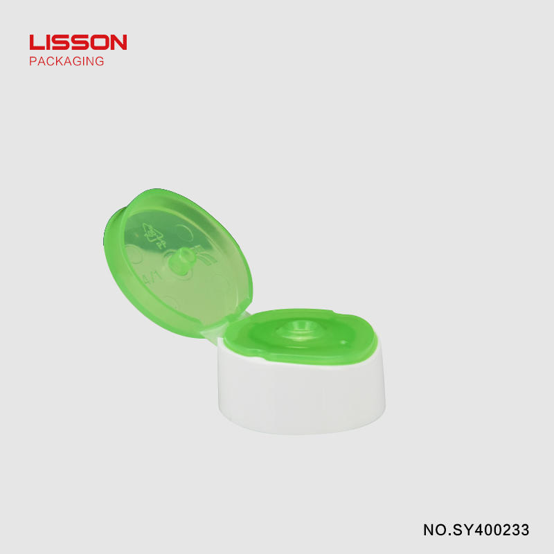 150g Lisson packaging matte coating plastic tube with double color cap