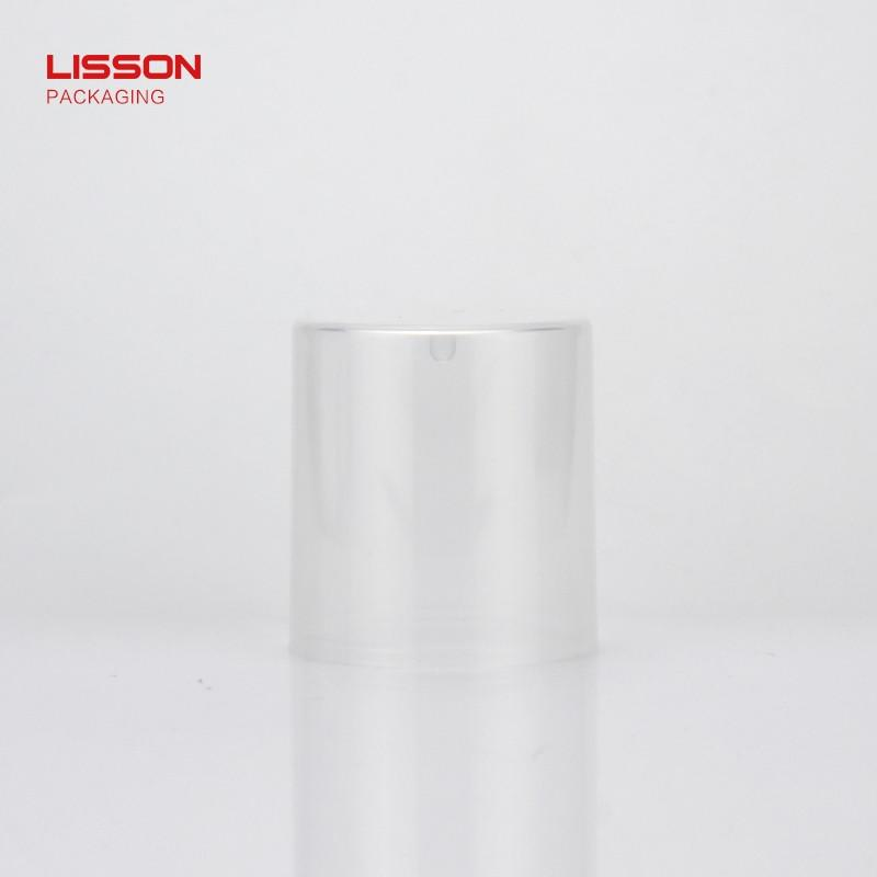 Lisson hemisphere airless tubes cosmetic silver coating for essence
