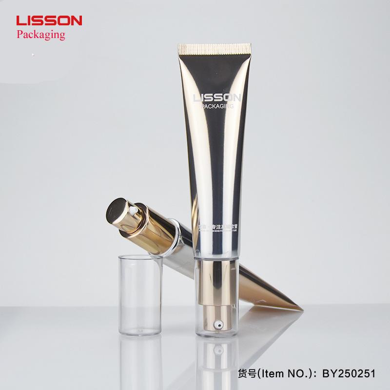 Pump Cosmetic tubes Gold color Design D25