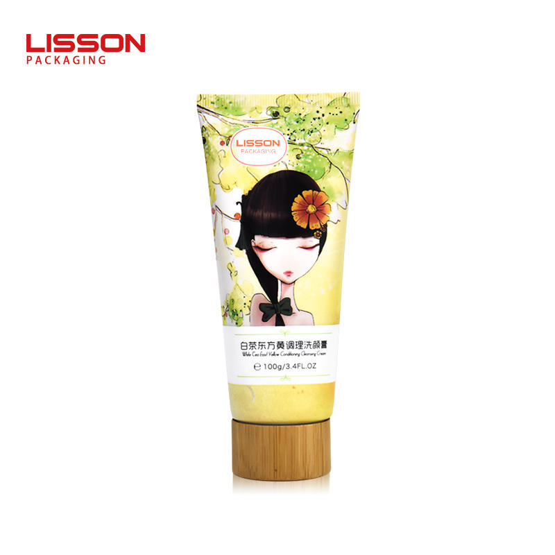 100g Eco-friendly Bamboo Lotion Tube Packaging Customized