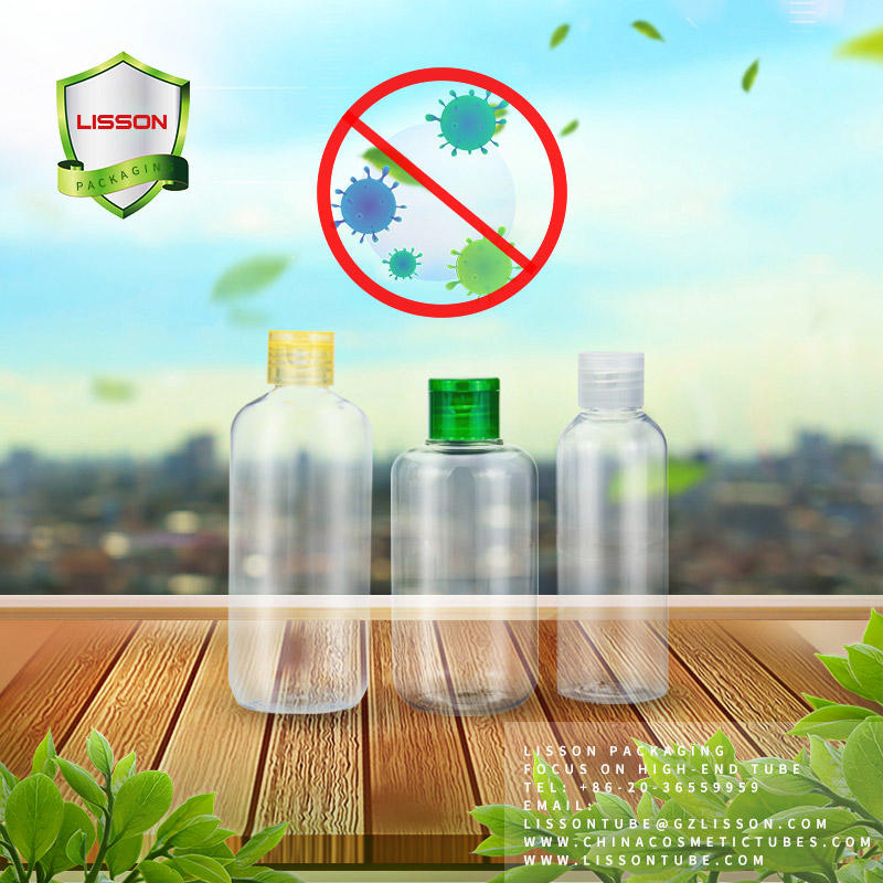 PET Bottles and Squeeze Tube Packaging with Flip Top Cap for Hand WASH