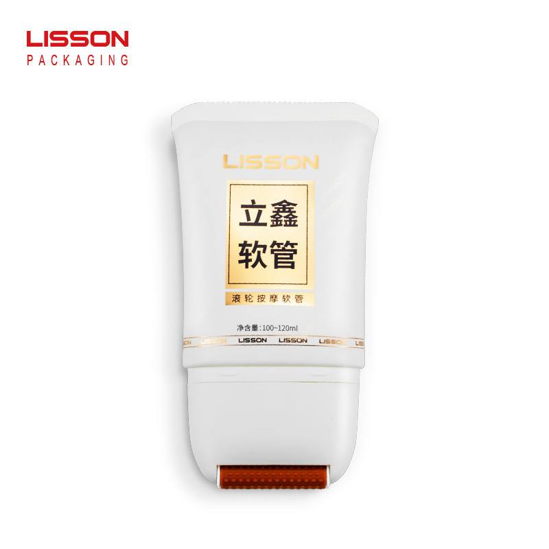 120ML Oval Roller Massage  Body Lotion Tube