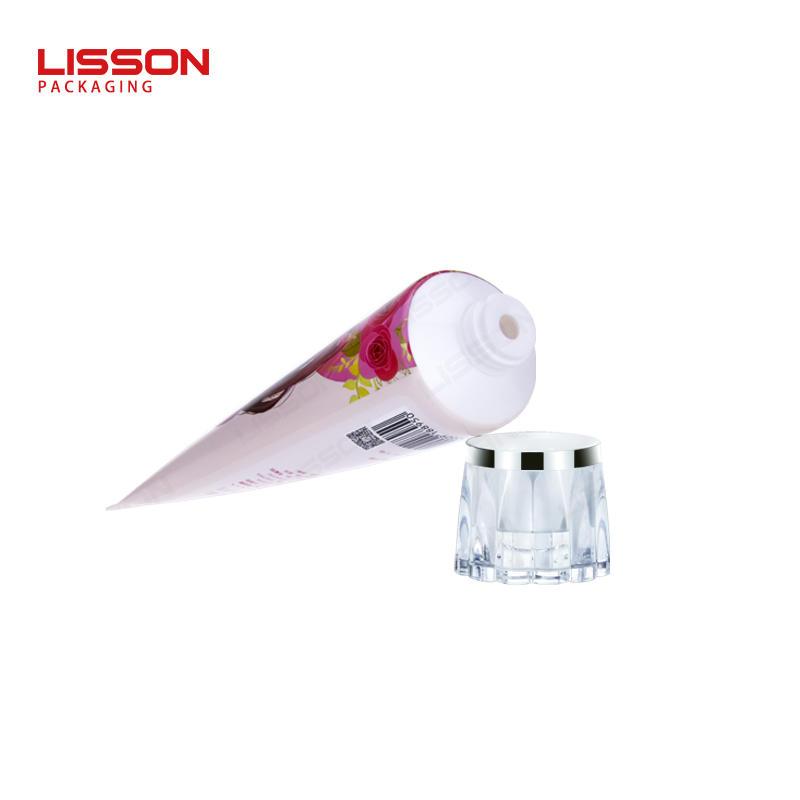 아크릴 캡이있는 D50 플라스틱 바디 크림 로션 튜브