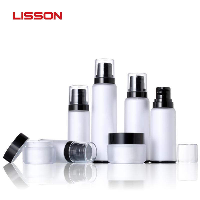 30ml-120ml plastic cosmetic jars airless pump bottles set