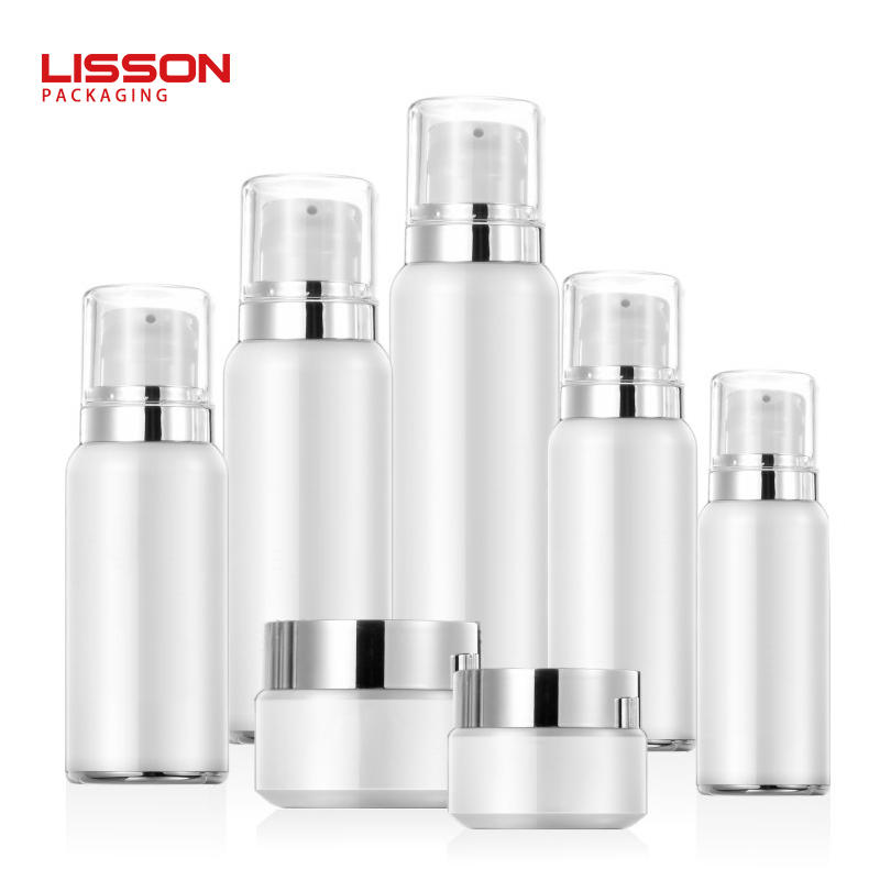 30ml - 120ml Plastic cosmetic airless pump lotion bottle and jar set packaging