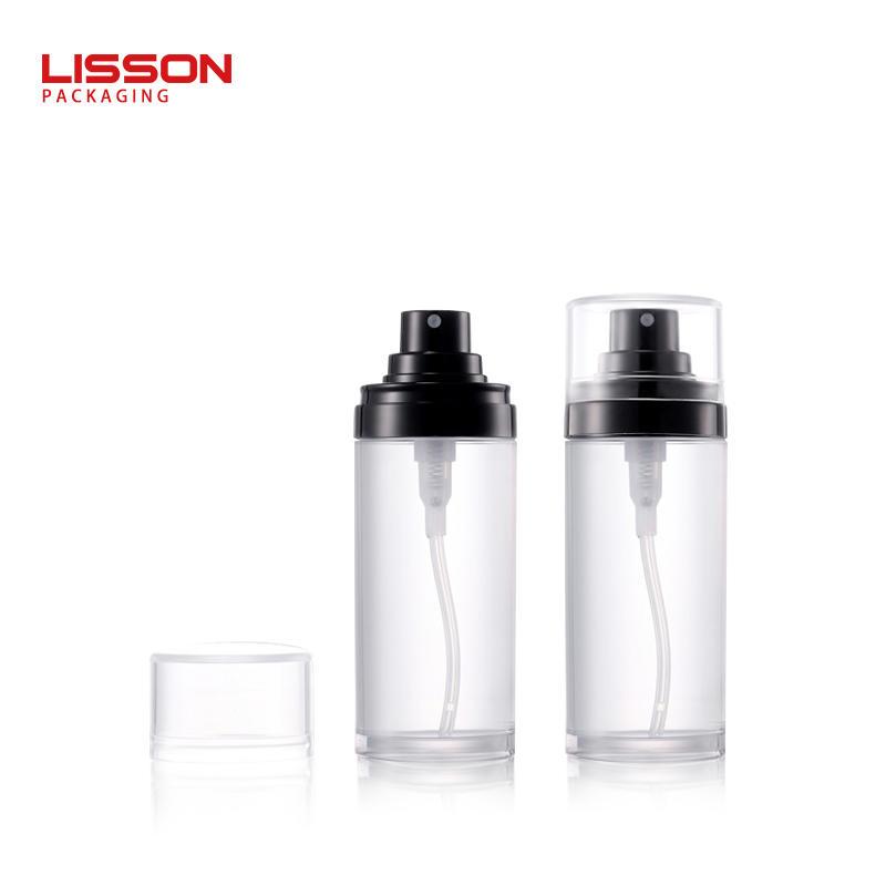 Refillable empty 50ml 80ml 100ml clear fine mist spray pump bottle