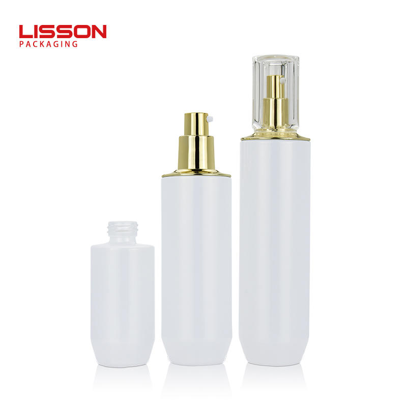 40ml 100ml 120ml cosmetic glass bottle and jar set pump bottles for lotion serum cream jar