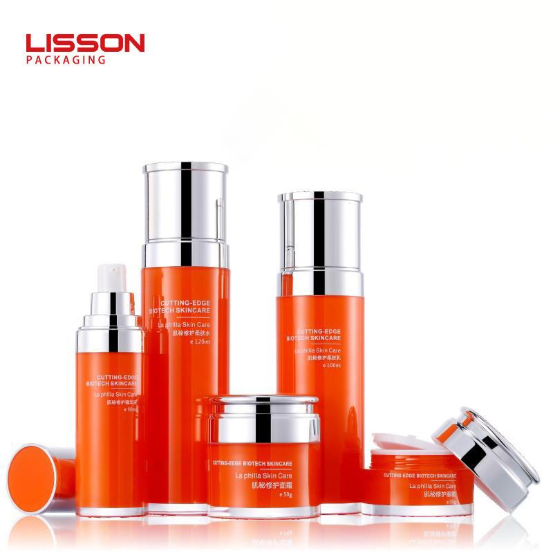 30ml-130ml cosmetic bottle set packaging liquid airless pump lotion bottle