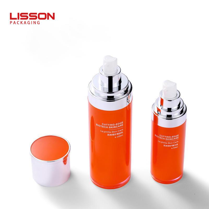 30ml-130ml 화장품 병 세트 패키징 액체 에어리스 펌프 로션 병