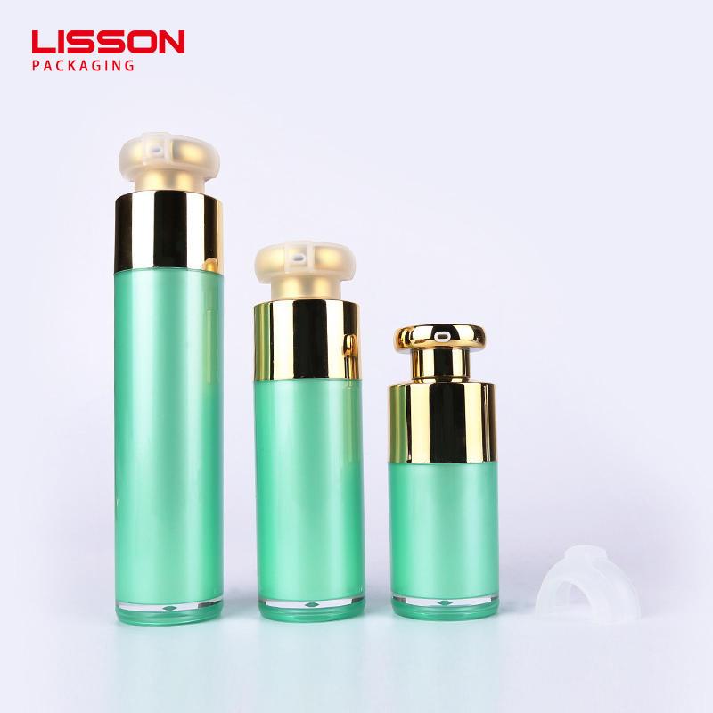 15ml 30ml  50ml plastic essence bottle cosmetic white airless pump bottle