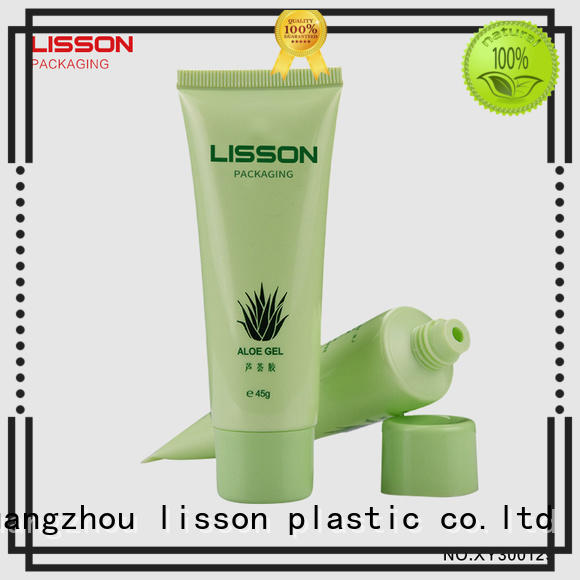 Quality Lisson Tube Package Brand plastic tubes with screw caps cap hemisphere