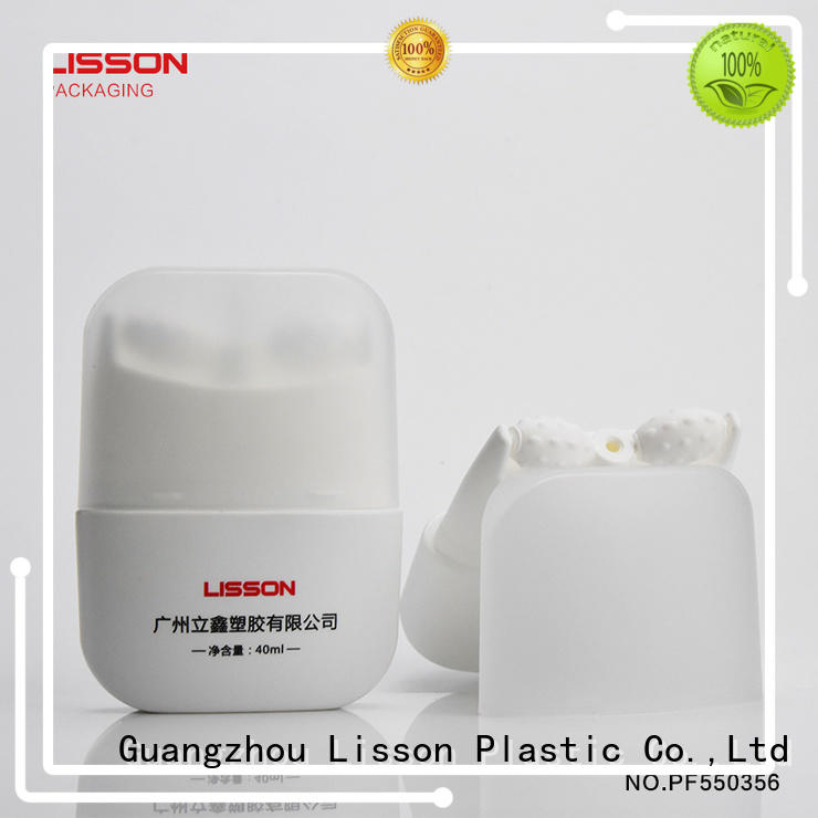 Lisson empty empty cosmetic containers applicator for sun cream