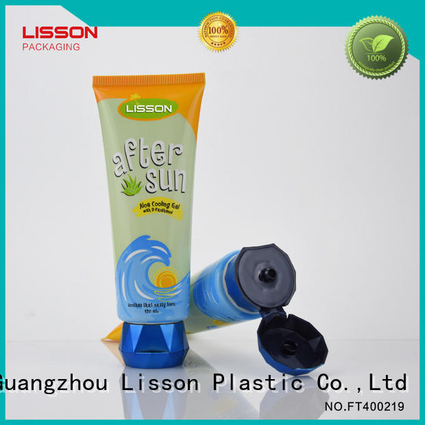 120ml round tube with diamond shape flip cap for facial cleanser