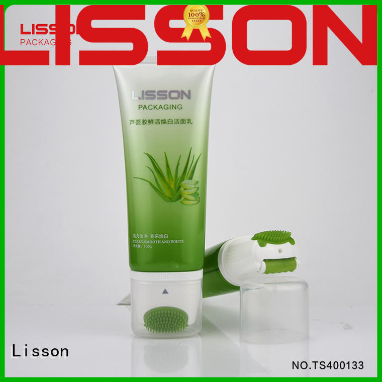 100g face wash packaging tube combination with clean and massage usage