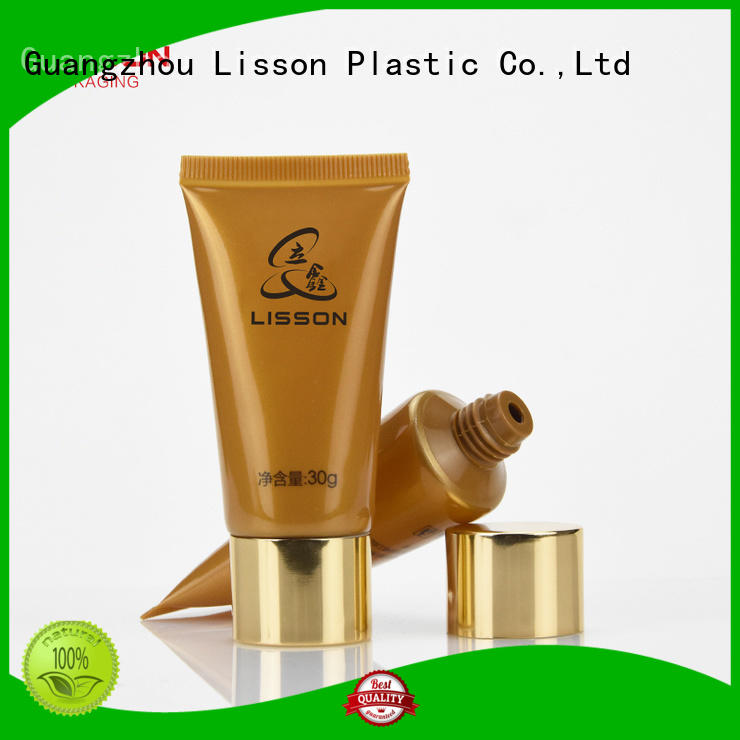 Lisson golden lotion packaging acrylic for cosmetic