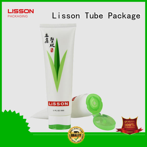 Wholesale plastic volume green cosmetic packaging Lisson Tube Package Brand