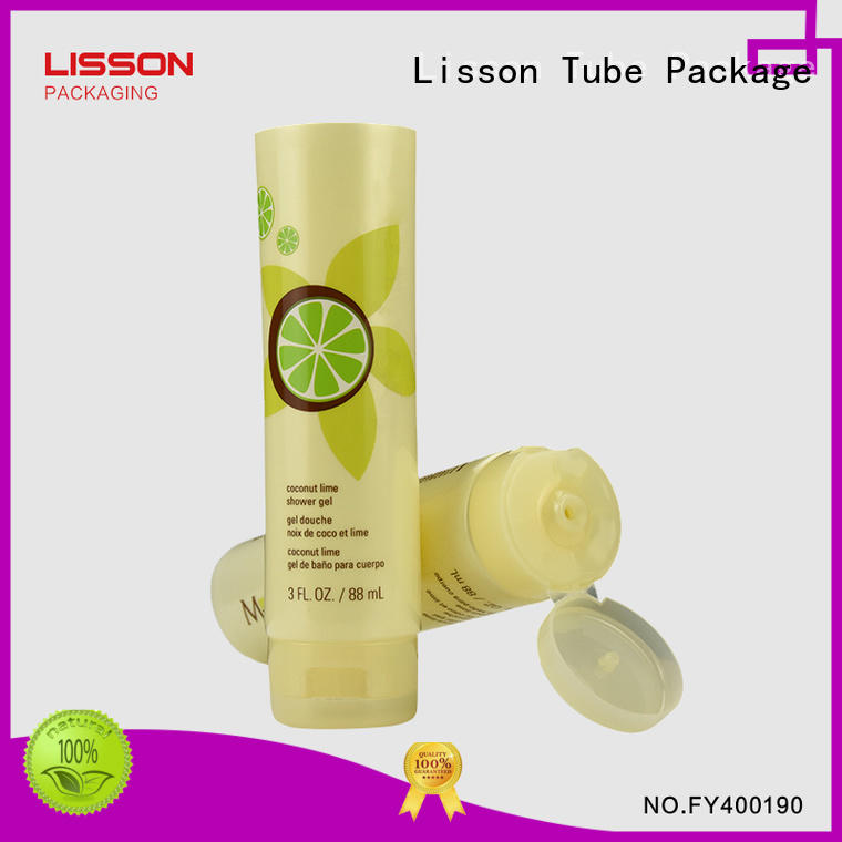 tube cap bottles with flip top caps Lisson Tube Package manufacture round
