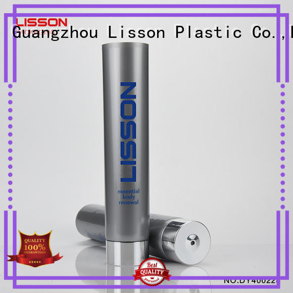 Lisson screw cap plastic tubes cosmetics free design for cleaner