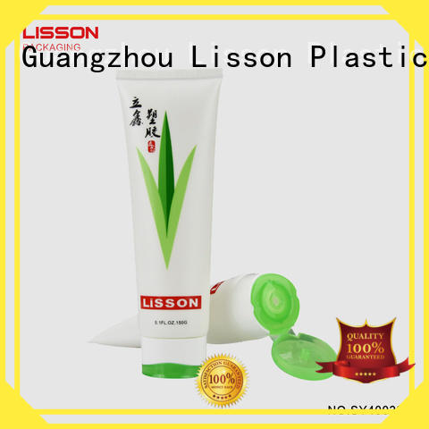 plastic lotion tubes volume green cosmetic packaging Lisson Brand