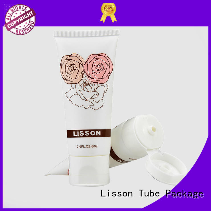 Lisson Tube Package Brand cap cleanser top bottles with flip top caps round
