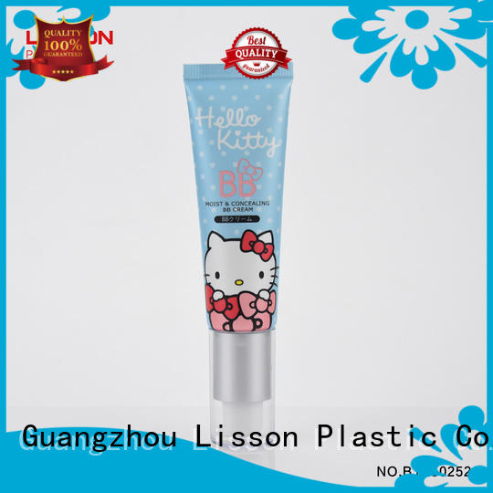 glossy cap hand lotion pump packaging oval for lotion