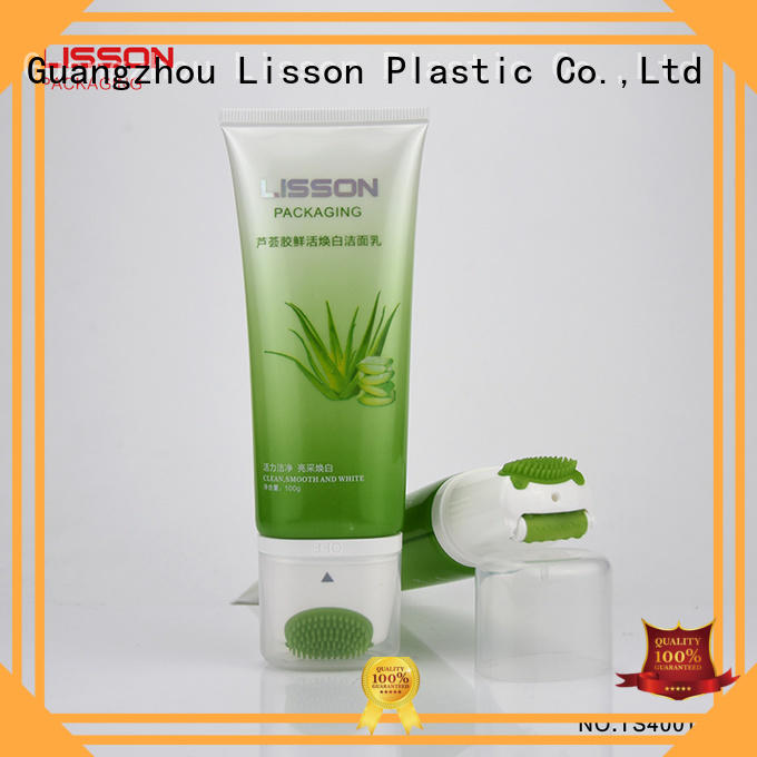 Lisson gold plastic tube cosmetic packaging free sample for lotion