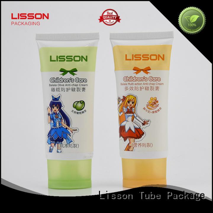 Custom plastic top  Lisson Tube Package oval