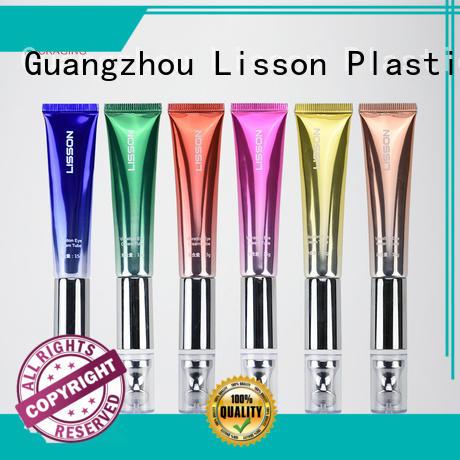 Lisson Brand transparent own custom airless cosmetic bottles