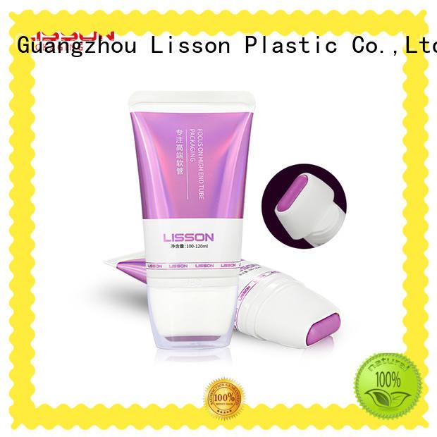 Lisson screw cap plastic tube packaging scraping for cream