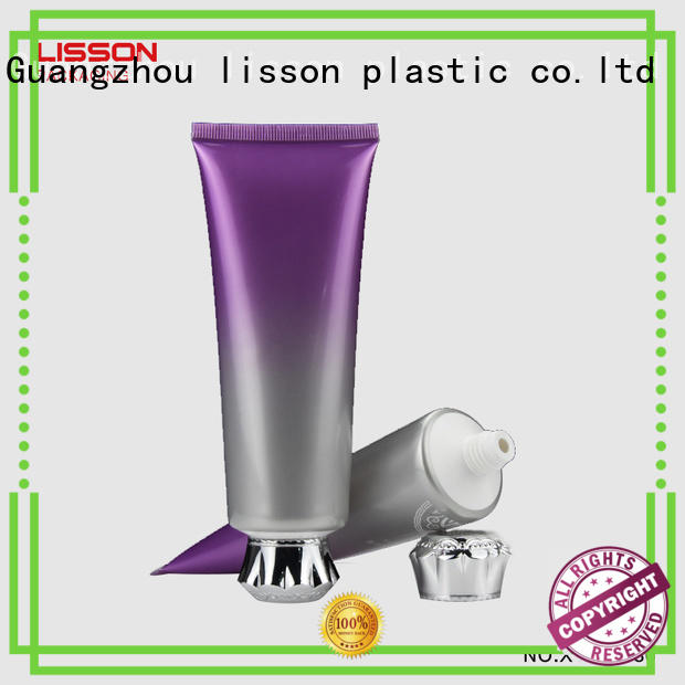covered luxury round lotion packaging thread Lisson Tube Package