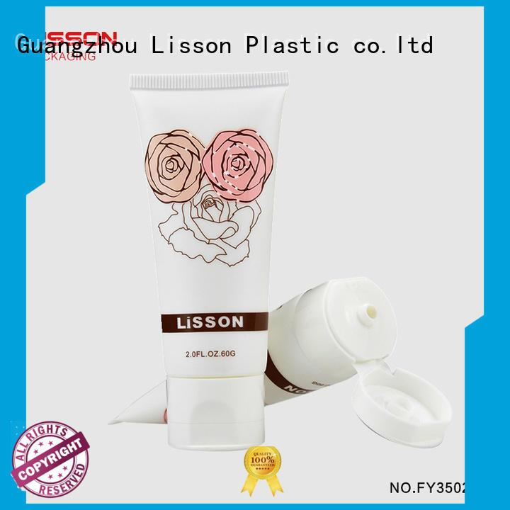 Lisson Brand tube round cap custom bottles with flip top caps