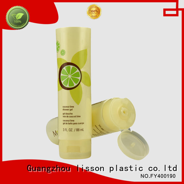 Lisson Tube Package Brand round bottles with flip top caps tube supplier